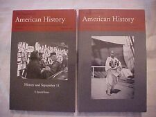 2 ISSUES THE JOURNAL OF AMERICAN HISTORY VOL 89 #2 & 4, 2002-03; SEPT 11