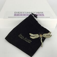 Joan Rivers Dragonfly Pin Brooch XV Classic Collection Pink Crystals