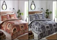 Safari Themed Grey Or Brown Quilt Duvet Cover Bedding Set Single   Double   King