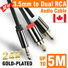 2RCA to 3.5mm Male Aux Cable Gold Plated Audio rca Cables Headphone aux Jack CA