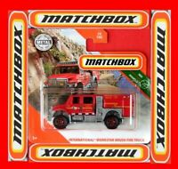 MATCHBOX 2020  INTERNATIONAL WORKSTAR BRUSH FIRE TRUCK    74/100   NEU&OVP
