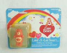 "Care Bears Love A Lot Bear 2"" PVC Miniature Figure Kenner 1984 Vintage"