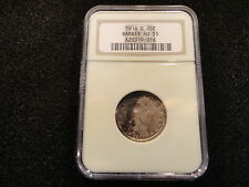 1916-D BARBER QUARTER 25 CENTS- NGC AU-55 TONED- LETS DEAL