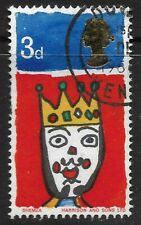 """STAMPS-GREAT BRITAIN. 1966. 3d Christmas. Variety Missing """"T"""". SG: 713c. FU"""
