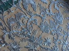 Silver Lace fabric by the metre wedding