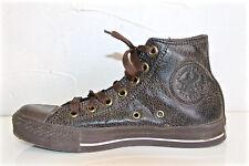 CONVERSE ALL STAR chaussures cuir vieilli marron homme P 39 UK 6,5 état neuf