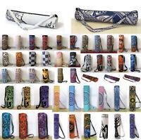 Mandala Cotton Yoga Bag Large Collection Of Yoga Mat Shoulder Strap Carrier Bag