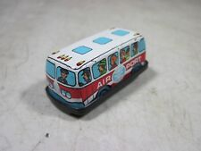 Vintage Micro Mini Tin Litho Friction Toy Panam Airlines Airport Bus Hong Kong
