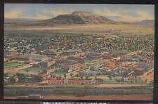 Postcard Tucumcari New Mexico/Nm Local Area Town Bird's Eye Aerial view 1930's