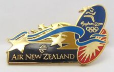 AIR NEW ZEALAND GOLD AIRPLANE SYDNEY OLYMPIC GAMES 2000 PIN BADGE COLLECT #231