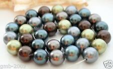 """Genuine 10mm Multicolor South Sea Shell Pearl Round Gemstone Loose Beads 15"""" AAA"""