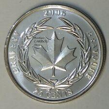 2006 Canada 25 Cents Bravery BU