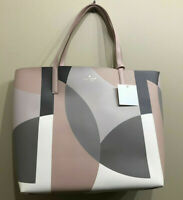 NWT Kate Spade Arch Place Mya Geometric / Beige Leather TOTE ONLY WKRU5542