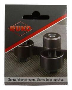 Schraublochstanze Lochstanze Locher Blechlocher RUKO 12,7 - 63,5mm ALLE GRÖSSEN