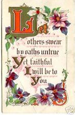 FAITHFUL GREETINGS ~ Vintage 1911 ~ Embossed