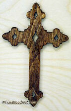 Budded Cross, Baltic Birch Wood Cross, for Wall Hanging or Ornament, Item S2-8