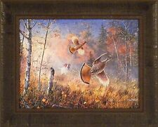 QUICK ESCAPE by Jim Hansel Grouse Hunting Dog Hunters 17x21 FRAMED PRINT PICTURE