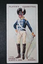 11th Hussars   Napoleonic Era Uniform    Original 1913 Vintage Card # VGC