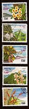 28T2 LAOS Serie de 5 timbres obliteres: Fleurs de printemps