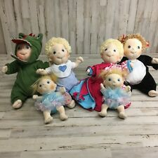 Lot of 6 Rubens Barn Dolls And Clothes