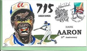 WILD HORSE HANK AARON 25th ANN OF BREAKING BABE RUTH'S HR  RECORD 715  Sc 3278