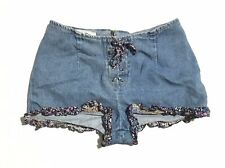 Vtg Paris Blues Womens Shorts 9 Floral Lace Up Preowned Festival Carnival