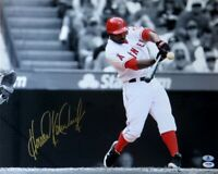 Howie Kendrick Signed Autographed 16X20 Photo Angels Home Swing Beckett B10979