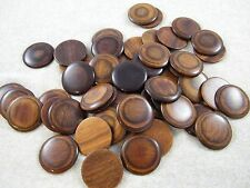 "50 Lacquered Wood Disc / Circles ~ 1 3/4"" Across ~ Crafts / Jewelry / Pendants"