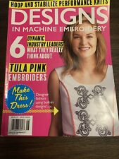 Designs in Machine Embroidery magazines; JanFeb MayJune 2014 issues MarApr