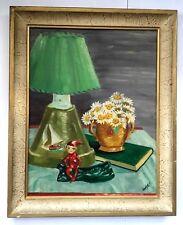 Vintage Painting Elf Pixie Mid Century Kitsch Ooak