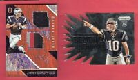 JIMMY GAROPPOLO WORN JERSEY PATCH CARD #d99 + PRIZM ROOKIE SAN FRANCISCO 49ers