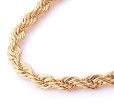 """22"""" 5mm Stainless Steel Twisted Rope Chain Pendant Gold Tone Necklace STT5G"""