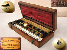 Antique Negretti & Zambra Sikes hydrometer set with proof rules
