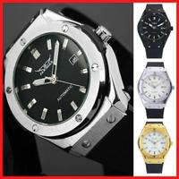 Mens Wrist Watch Mechanical Analog Luminous Dial Date Calendar Steel Wristwatch