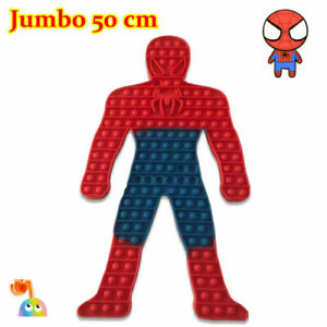 50CM Spiderman Push it Bubble Pop Fidget Sensory Toy ADHD Stress Reliever Toys