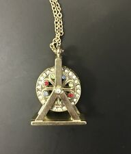 Cute Ferris Wheel Crystal Quirky Funky Kitsch Christmas Gift Pendant Necklace