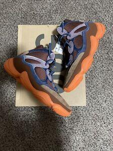 Adidas Yeezy 500 High Tactile Orange GW2873 Men's Size 11 in hand