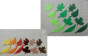FELT x12 LEAF/LEAVES Greens OR Autumn die cuts Decorations Appliqué Scrapbooking