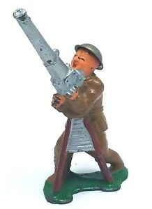 Barclay Manoil Lead Soldier #774 Anti Aircraft Gunner - Made In USA VGC