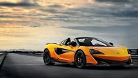 McLaren 600LT Spider 2019 Orange Car Auto Art Silk Wall Poster Print 24x36""
