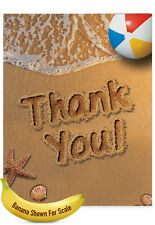J6113GTYG Jumbo Thank You Card: Beach Notes ft. Sandy Scenes of the Summer
