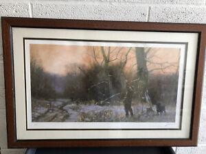John Trickett limited edition Shooting Print 393/500 Framed
