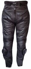 NEW Leather Motorcycle Trouser Black CE Armour Lined Motorcycle Leather Trousers