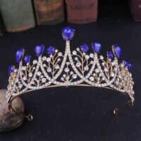 European Exquisite Bride Wedding Tiaras Shiny Rhinestons Crown Water-drop Shape