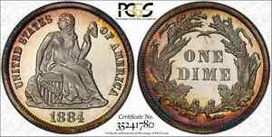 1884 Seated Liberty Dime Proof PCGS PR67+CAM CAC Only 1 Higher!
