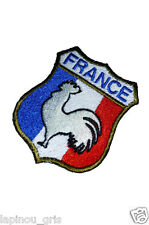 Ecusson patch France brodé airsoft paintball original coq blanc thermo