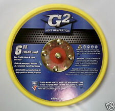 """6"""" x 3/8"""" Thick, 5/16""""-24 Thread, Low Profile Hook & Loop Pad No Hole G2, 6pk"""