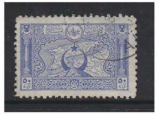 Turchia - 1917/18, 50pa BLU-PERF 11 1/2 (MAP) TIMBRO-f / U-SG 921A