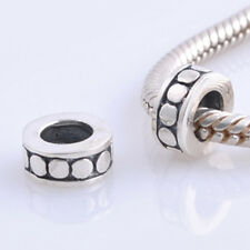 ONE STOPPER DOTS Genuine 925 Sterling Silver Charm Bead Fit European Bracelet