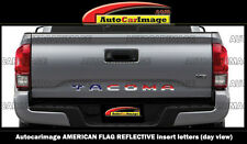AMERICAN FLAG REFLECTIVE LETTERS for TOYOTA TACOMA 2016 17 LOGO TAILGATE INSERTS